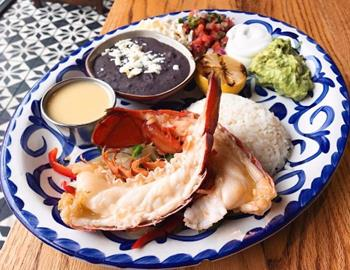 Lobster fajitas